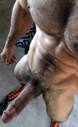 Hairy muscle cock